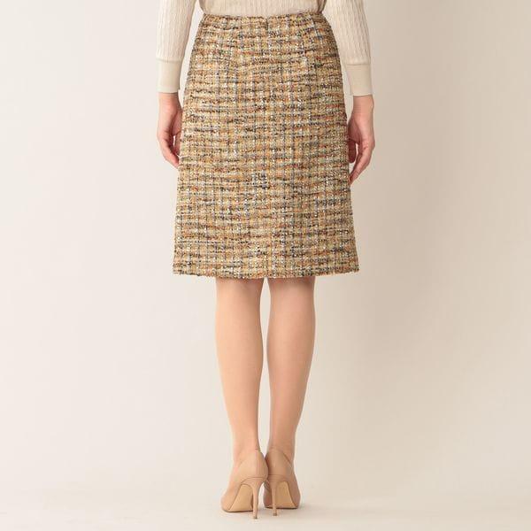 ミックスヤーンファンシーツイードスカート(セットアップ対応)