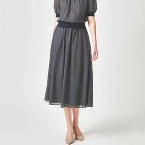 イコールドットプリントスカート【ウォッシャブル】(セットアップ対応)