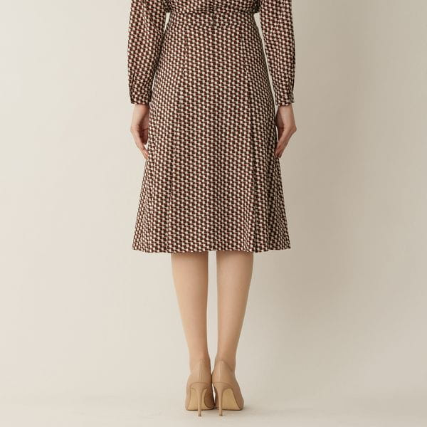 【ウォッシャブル】ステップスクエアプリントスカート(セットアップ対応)