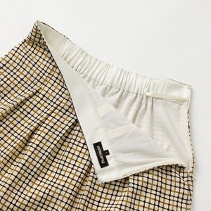 ドローイングチェックプリントスカート【ウォッシャブル】(セットアップ対応) 21FW