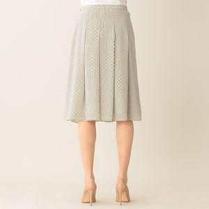 【ウォッシャブル】クラッキングドットプリントスカート