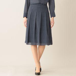 [ 27%OFF ] 【ウォッシャブル】クラッキングドットプリントスカート