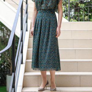 [ 24%OFF ] フローレットプリントスカート【ウォッシャブル】(セットアップ対応)