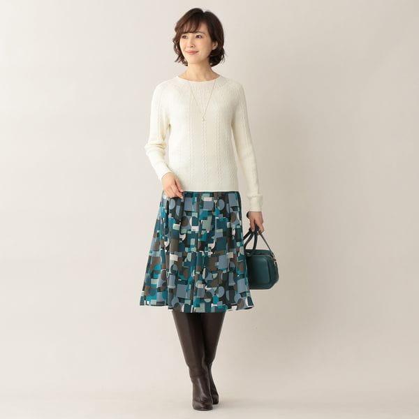 [ 22%OFF ] メイジーパターンプリントスカート【ウォッシャブル】(セットアップ対応)