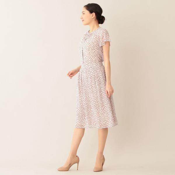 【ウォッシャブル】フレームプリント スカート
