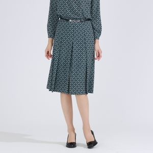 【WEB限定】カレイドミラープリントスカート【ウォッシャブル】(セットアップ対応) 21FW
