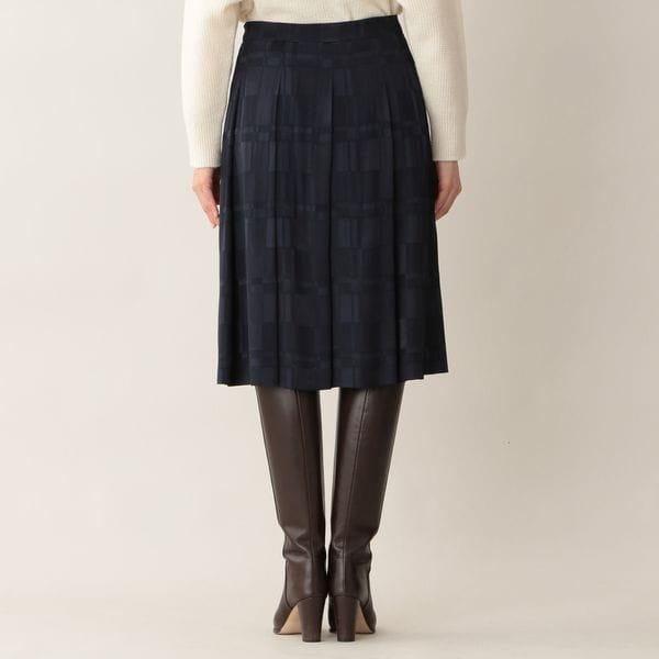 [ 41%OFF ] シャイニーブロックジャカードスカート